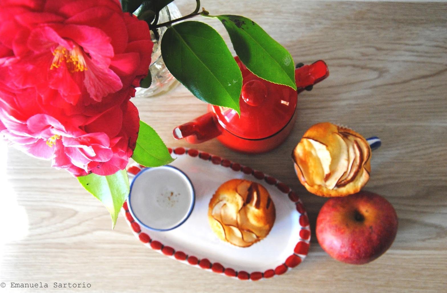 Muffin con ricotta e melannurca