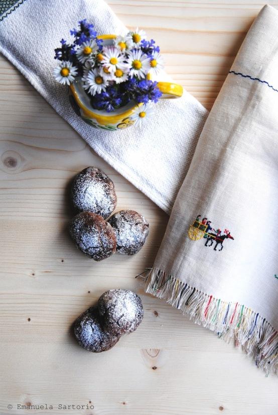 crinkle cookies cioccolato di modica